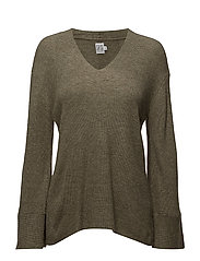 WIDE SLEEVE SWEATER - HERB