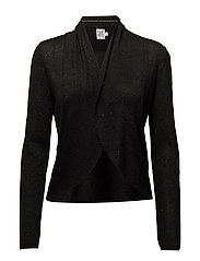 OPEN CARDIGAN W. GLITTER - BLACK
