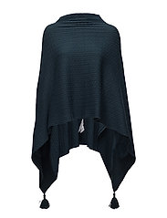 CABLE KNIT PONCHO - CACTUSM