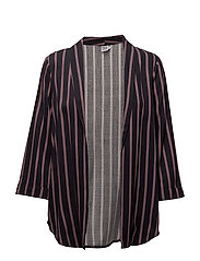 STRIPED BLAZER - BL DEEP