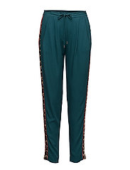 PANTS WITH LEOPARD STRIPE - S.GREEN