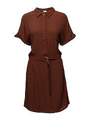 WOVEN SHIRT DRESS - CHERRY M.