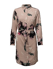 HOMEWORKER P.SHIRT DRESS - FAWN