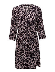 ANIMAL WRAP DRESS - B.LILAC