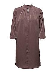 DRESS WITH OPEN HOLE DETAIL - FLINT