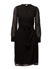MAXI WRAP DRESS - BLACK