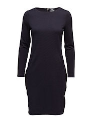 DRESS W SIDE PANELS - BL DEEP