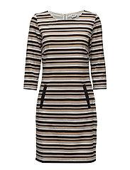 STRIPES PRINTED DRESS - CHAITEA