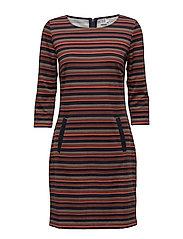 STRIPES PRINTED DRESS - CHERRY M.