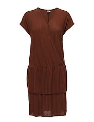 PLEATED JERSEY DRESS - CHERRY M.