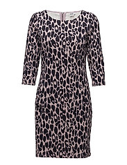 ANIMAL PRINTED JERSEY DRESS - B.LILAC