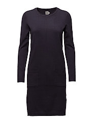 KNIT DRESS WITH POCKETS - GRAPHIT