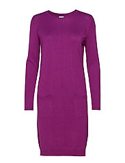KNIT DRESS WITH POCKETS - MALLOW
