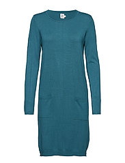 KNIT DRESS WITH POCKETS - PINEGREEN