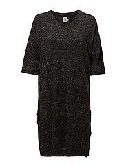 LONG  KNITTED DRESS - PHANTOM