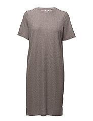 SHIMMER KNIT DRESS W. SLITS - PALE LILAC