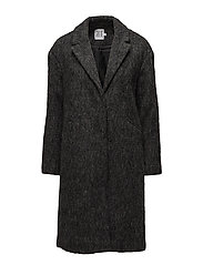LONG WOOL COAT - PHANTOM M