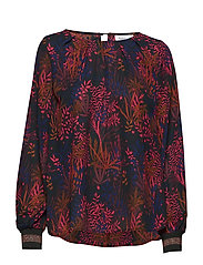 NATURE P BLOUSE W RIB - FOREST