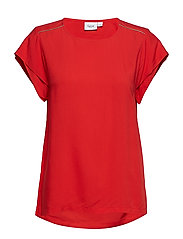 TOP W SLEEVE DETAIL - TOMATO