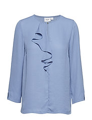 BLOUSE WITH RUFFLE FRONT - CO.BLUE