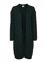 LONG KNIT CARDIGAN W POCKETS - FOREST