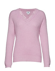 KNIT W LACE - ORCHID B.