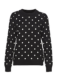SWEATER W DOTS - BLACK