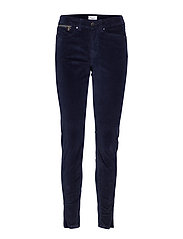 BABY CORDUROY PANTS W ZIPPERS - ANT.BLUE