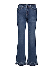 BOOT CUT JEANS - MED.BLUE