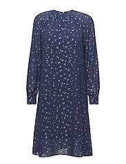 CONFETTI P CHIFFON DRESS - ANT.BLUE