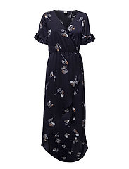 Saint Tropez - Large Flower P Wrap Over Dress