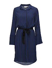 Saint Tropez - Two Tone Stripe P Dress W Belt