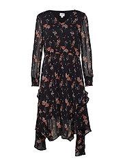 BOHEME P CHIFFON DRESS - BLACK