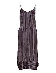 WOVEN DRESS CALF LENGHT - BL DEEP