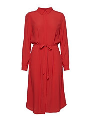 SHIRT DRESS - TOMATO