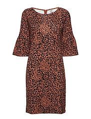 ANIMAL P JERSEY DRESS - C.BROWN