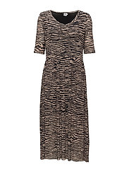 Saint Tropez - Zebra Animal Print Maxi  Dress