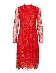 LACE DRESS - A.RED
