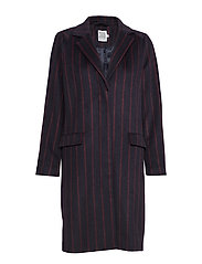 STRIPED COAT - BL DEEP