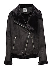 TEDDY BIKER - BLACK