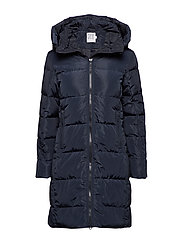DOWN COAT WITH FAUX FUR - BL DEEP