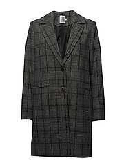 CHECK COAT - BLACK