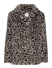 LEOPARD FAUX FUR JACKET - W.SMOKE