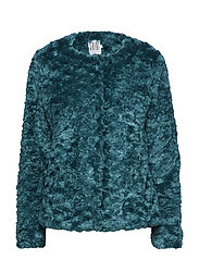 FAUX FUR JACKET - PINEGREEN