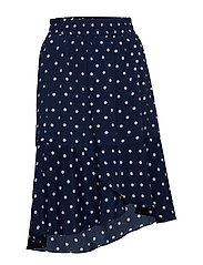 WOVEN SKIRT W DOTS - ANT.BLUE