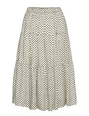 WOVEN SKIRT BELOW KNEE - BL DEEP