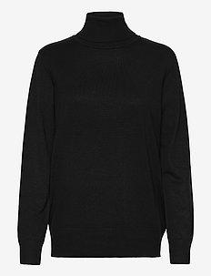J2046, MilaSZ Rollneck Pullover - rolkraagtruien - black