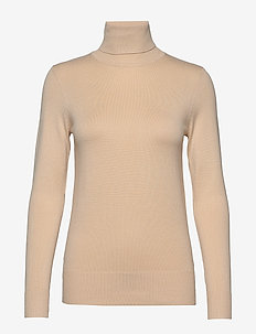 J2046, ROLL NECK SWEATER - rullekraver - creme