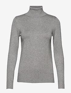 J2046, MilaSZ Rollneck Pullover - rollkragenpullover - pearl grey mel