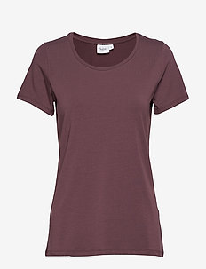 R1520, T-SHIRT WITH ROUND NECK - ARONIA